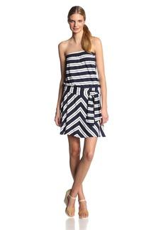 Michael Stars Women's Bastille Stripe Suzette Strapless Tie Waist Dress