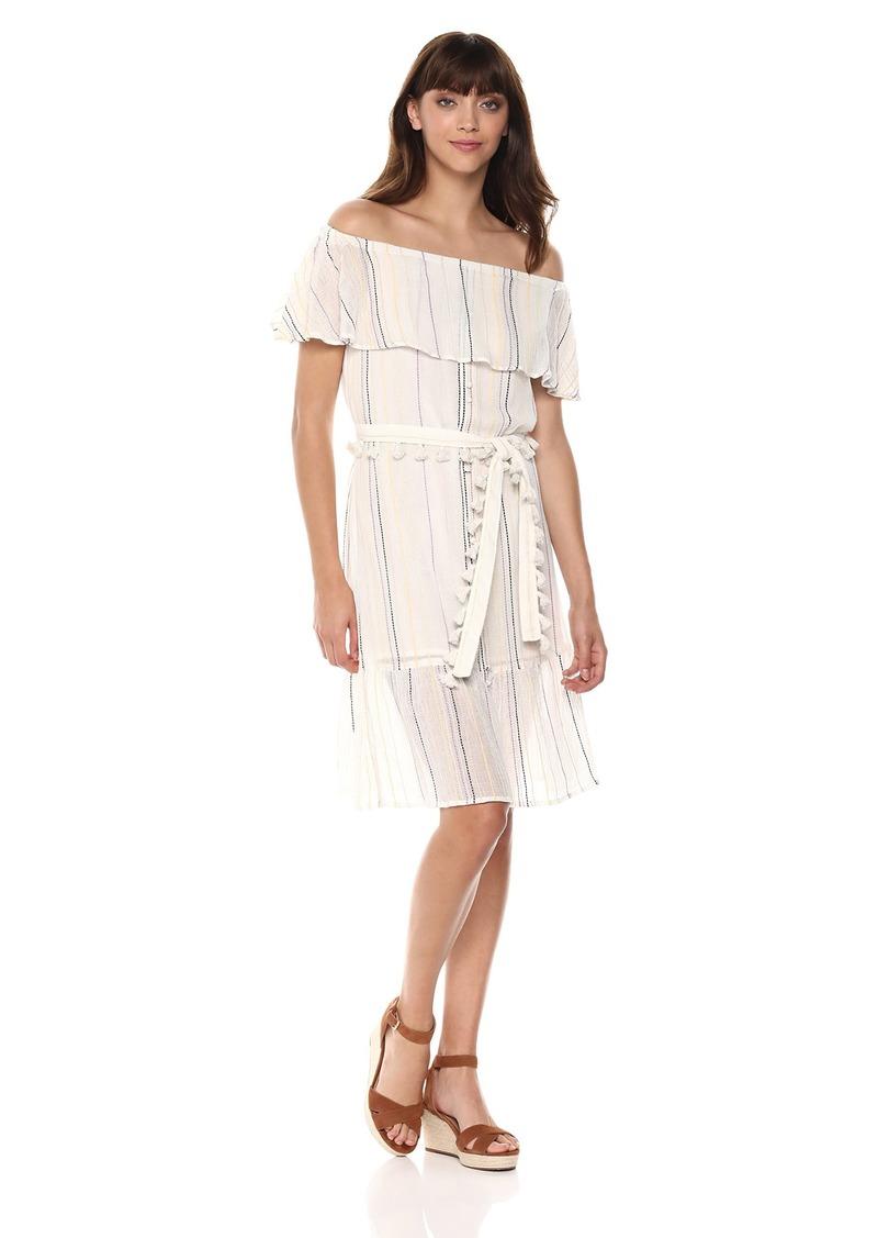 Michael Stars Women's Beach Stripe Multi-wear Ruffle Dress