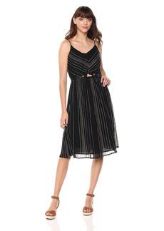 Michael Stars Women's Beach Stripe peek-a-Boo midi Dress
