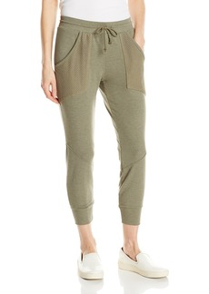 Michael Stars Women's Boardwalk French Terry Drawstring Pant with Mesh Detail