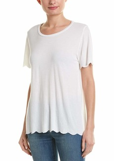 Michael Stars Women's Brixton Jersey Crew Neck Scalloped Edge tee