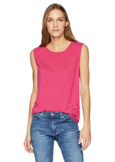 Michael Stars Women's Brixton Jersey Muscle Tank with Scallop Edge