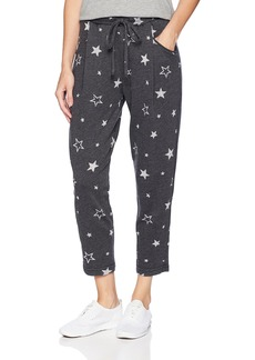 Michael Stars Women's Burnout Star Terry Cropped Joggers  S