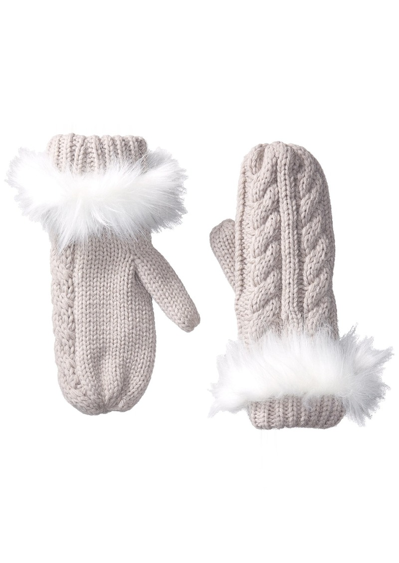 Michael Stars Women's Cable Knit Mitten tinsel