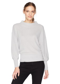 Michael Stars Women's Cashmere Blend Dolman Sleeve Mock Neck Pullover  M