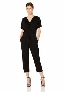 Michael Stars Women's Chelan Short Sleeve Cropped Jumpsuit