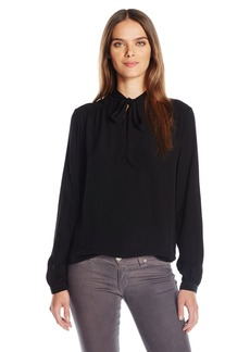 Michael Stars Women's Chiffon Blouse with Tie Detail