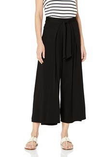 Michael Stars Women's Clarissa Cropped Culottes with Front tie  Extra Small