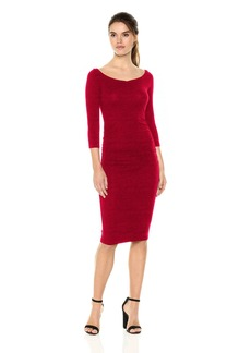 Michael Stars Women's Collection 3/4 Sleeve Off-The-Shoulder Dress  L