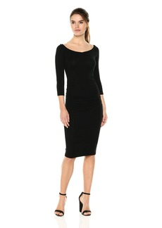Michael Stars Women's Collection 3/4 Sleeve Off-The-Shoulder Dress  S