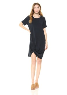 Michael Stars Women's Collection Short Sleeve Knotted Hem Dress  M