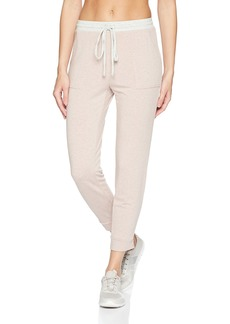 Michael Stars Women's Color Block Elevated French Terry Drawstring Pant  M