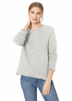Michael Stars Women's Confetti Scoop Neck Pullover with Fringe  Extra Small