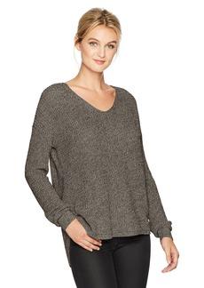 Michael Stars Women's Cotton Knit Long Sleeve V-Neck Pullover  M