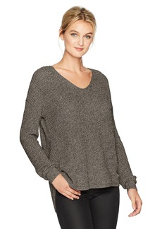 Michael Stars Women's Cotton Knit Long Sleeve V-Neck Pullover  S