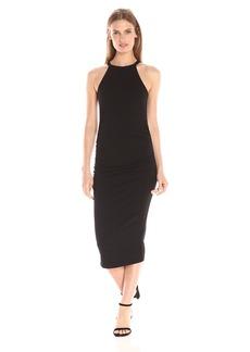 Michael Stars Women's Cotton Lycra Halter Midi Dress  L
