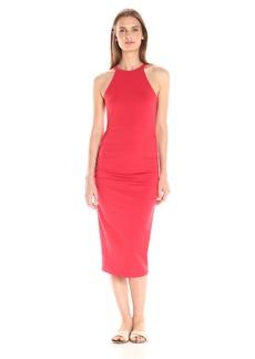 Michael Stars Women's Cotton Lycra Halter Midi Dress  M