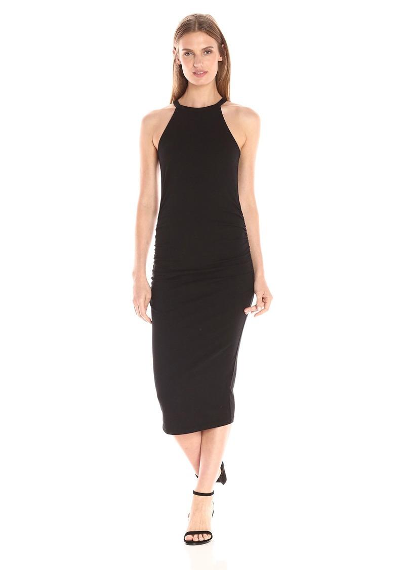 Black Halter Midi Dress