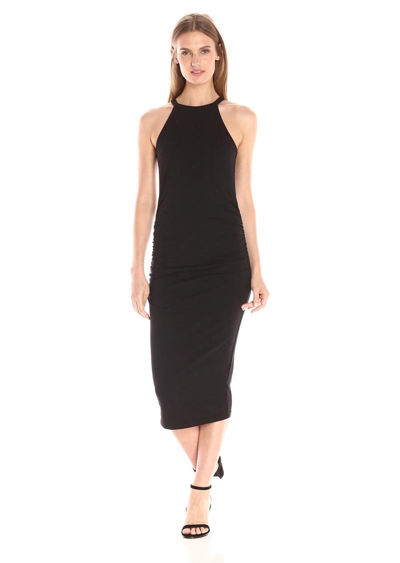 Michael Stars Women's Cotton Lycra Halter Midi Dress  XS