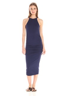 Michael Stars Women's Cotton Lycra Halter Midi Dress  XS