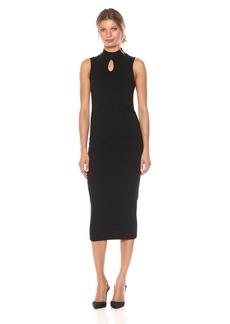Michael Stars Women's Cotton Lycra Mock Neck Sleeveless Dress  S