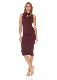 Michael Stars Women's Cotton Lycra Mock Neck Sleeveless Dress  XS