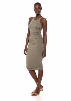 Michael Stars Women's Cotton Lycra Racerback midi Dress