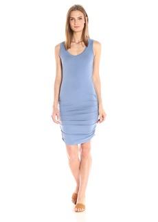 Michael Stars Women's Cotton Lycra Scoop Neck Tank Dress with Shirring  XS