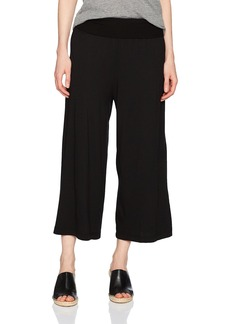 Michael Stars Women's Cotton Modal Cropped Wide Leg Culottes  L