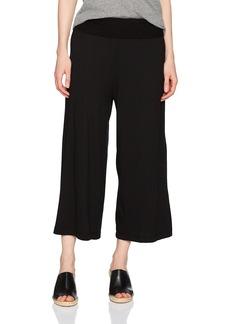 Michael Stars Women's Cotton Modal Cropped Wide Leg Culottes  L