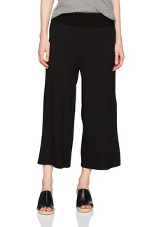 Michael Stars Women's Cotton Modal Cropped Wide Leg Culottes  M