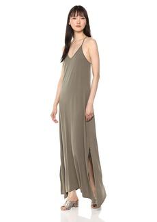 Michael Stars Women's Cotton Modal Long Strappy Dress camo