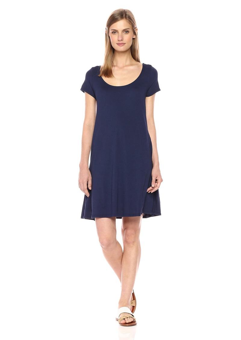 Michael Stars Women's Cotton Modal Scoop Neck Tee Dress  L