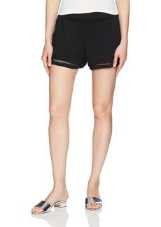 Michael Stars Women's Cotton Modal Shorts with Ladder Trim  XS