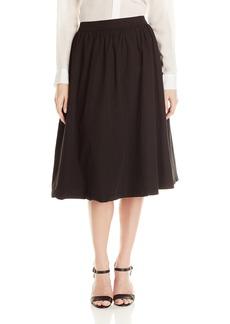 Michael Stars Women's Cotton Poplin A Line Skirt