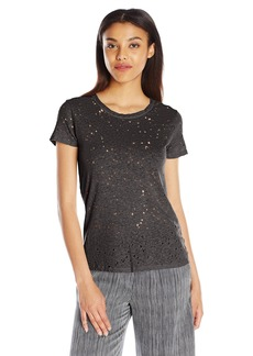 Michael Stars Women's Crewneck T-Shirt with Center Back Seam