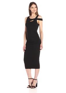 Michael Stars Women's Cross Over Strap Dress with Shirring  L