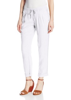 Michael Stars Women's Cuffed Ankle inent Pant with Drawstring  arge