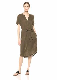 Michael Stars Women's Dinah Double Gauze Short Sleeve midi Dress
