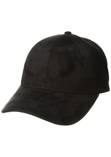 Michael Stars Women's Don't be Suede Baseball Cap black one size