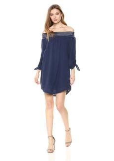 Michael Stars Women's Double Gauze 3/4 Sleeve Off-The-Shoulder Dress  M