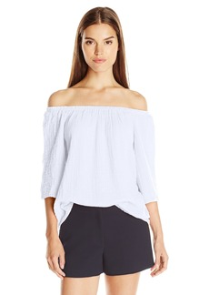 Michael Stars Women's Double Gauze Off Shoulder Top  arge