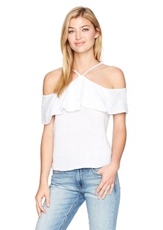 Michael Stars Women's Double Gauze Off The Shoulder Back to Front Top  S