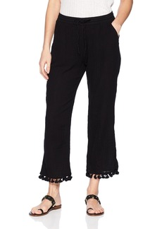 Michael Stars Women's Double Gauze Pull On Pant With Tassels  M