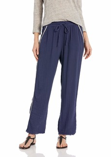 Michael Stars Women's Double Gauze with Trim Raw Hem Tapered Pant