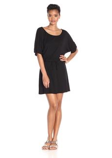 Michael Stars Women's Drawstring Dress with Ruched Sleeves