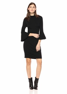 Michael Stars Women's Elevated French Terry Bell Sleeve Dress