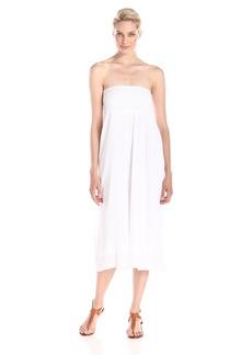Michael Stars Women's Embroidered Gauze Convertible Maxi Skirt Midi Dress White