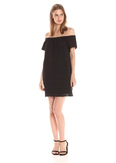 Michael Stars Women's Eyelet Off the Shoulder Dress  S