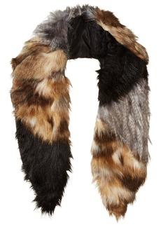 Michael Stars Women's Real Faux Fur Collar Scarf